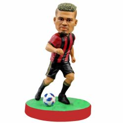 Personalized soccer player bobblehead