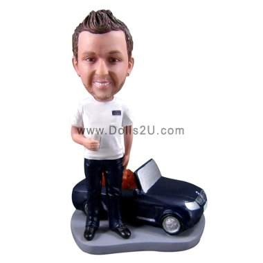 Man and a car Bobbleheads