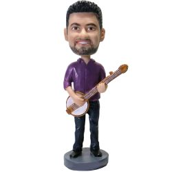 Custom Bobbleheads Banjo Player Bobblehead