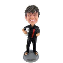 Custom Bobbleheads accordion player bobblehead