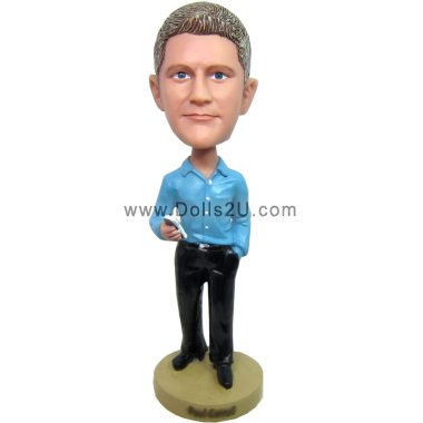 Casual Executive with Smart Phone bobblehead Bobbleheads