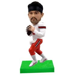Personalized football player bobblehead / gift for football fans