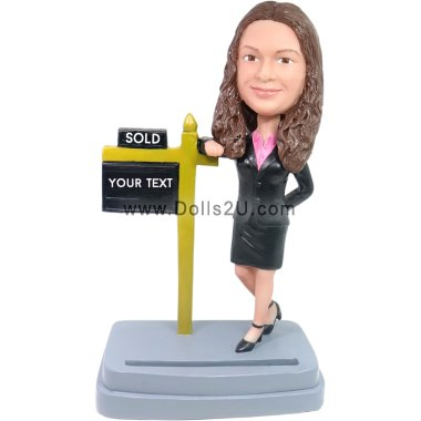 female business card holder Bobbleheads