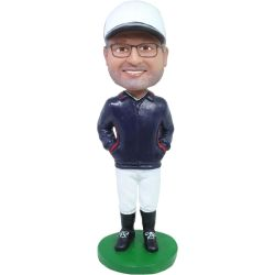Custom Made Baseball Coach Bobblehead Gift