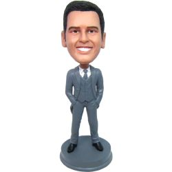 groomsmen bobble head gift