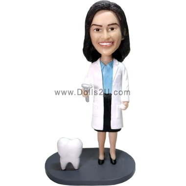 Personalized Female Dentist Bobblehead - gift for dentist Bobbleheads