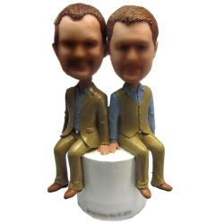 Custom Bobbleheads custom gay wedding bobbleheads Topper