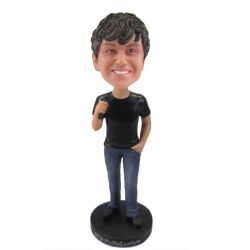 Singer bobble head