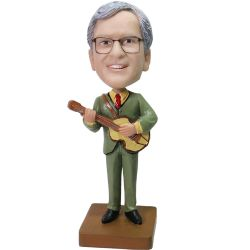 Custom Bobbleheads Custom Guitar Player Bobblehead From Your Photo