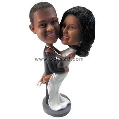 Personalized Wedding bobbleheads Cake Topper Bobbleheads