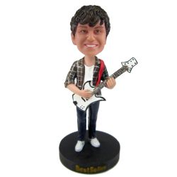 Custom Bobbleheads Bassist player bobblehead