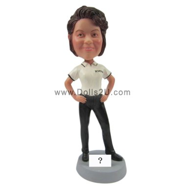 Female in polo shirt Bobbleheads