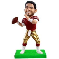 custom football player bobblehead