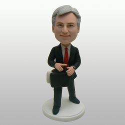 Business men In a hurry bobblehead