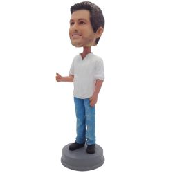 Custom Bobbleheads Thumbs Up Bobblehead