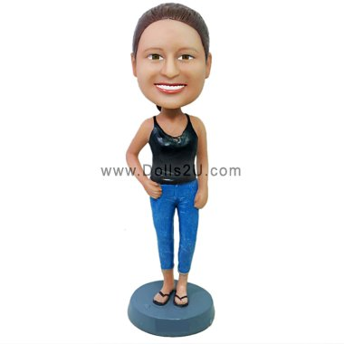 Casual Lady Bobbleheads