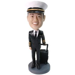 Personalized pilot bobblehead from your photo