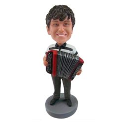 Custom Bobbleheads accordion player bobble head