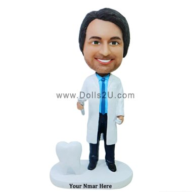 Dentist bobblehead gift - dentist holding dental drill Bobbleheads
