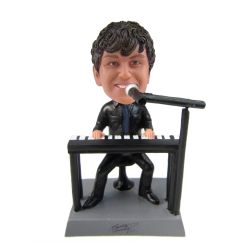 Custom Bobbleheads Electronic organ player bobblehead