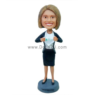 Businesswoman bobblehead - your logo on the chest Bobbleheads
