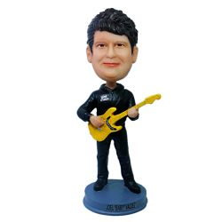 Custom Bobbleheads Bassist player bobble head