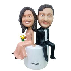 Custom Bobbleheads Interestingly wedding bobbleheads