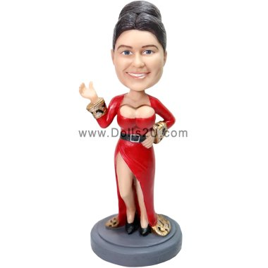 Personalized Karen's chest moving bobblehead (chest and head bobble) Bobbleheads