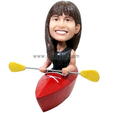 Female Kayak Bobblehead Bobbleheads