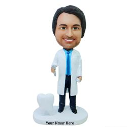 Dentist bobblehead gift - dentist holding dental drill