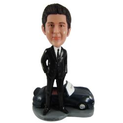 Custom Bobbleheads Man and a car