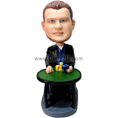 Poker Player bobblehead Bobbleheads
