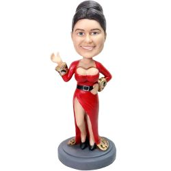 Personalized Karen's chest moving bobblehead (chest and head bobble)