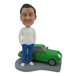 Custom Bobbleheads A man and a car