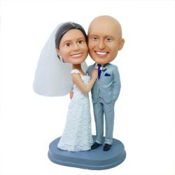 Custom Bobbleheads Wedding Bobblehead cake topper