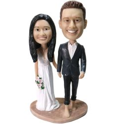 Custom Bobbleheads Personalized Wedding Bobbleheads
