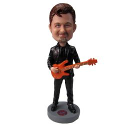 Bassist Male Bobblehead / Bassist Male Cake Topper