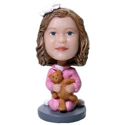 Custom Bobbleheads kit with a stuffed bear