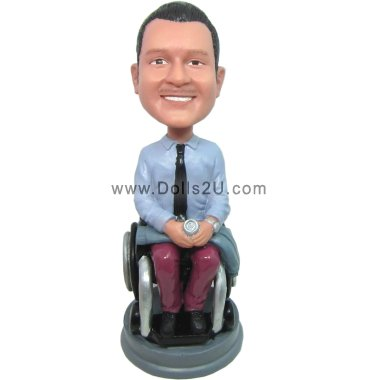 Male in a Wheelchair Bobbleheads
