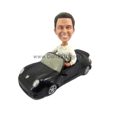 Male in a car Bobbleheads
