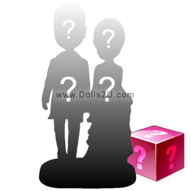 Head-to-toe custom - You can completely personalize your bobbleheads from head to toe and a small background Bobbleheads