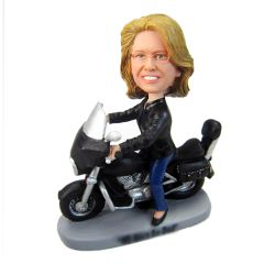 Custom Bobbleheads Female on Motorcycle