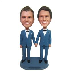 Custom Bobbleheads custom gay wedding bobbleheads