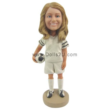 Female soccer player Bobbleheads