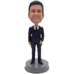 custom groomsmen bobble head gift