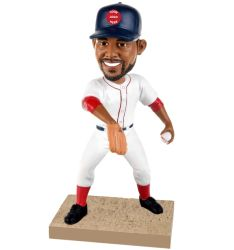 Personalized baseball pitcher bobblehead